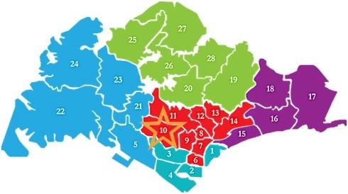 新加坡房产分布D10the nassim