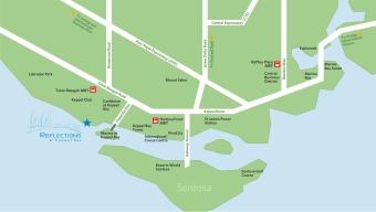 Reflections at Keppel Bay location map
